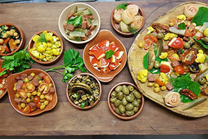 organic Spanish tapas
