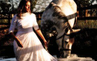 bride horse wedding ireland