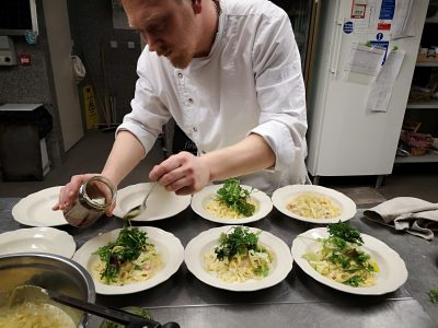 home cooked meals at The Three Towers Organic Restaurant